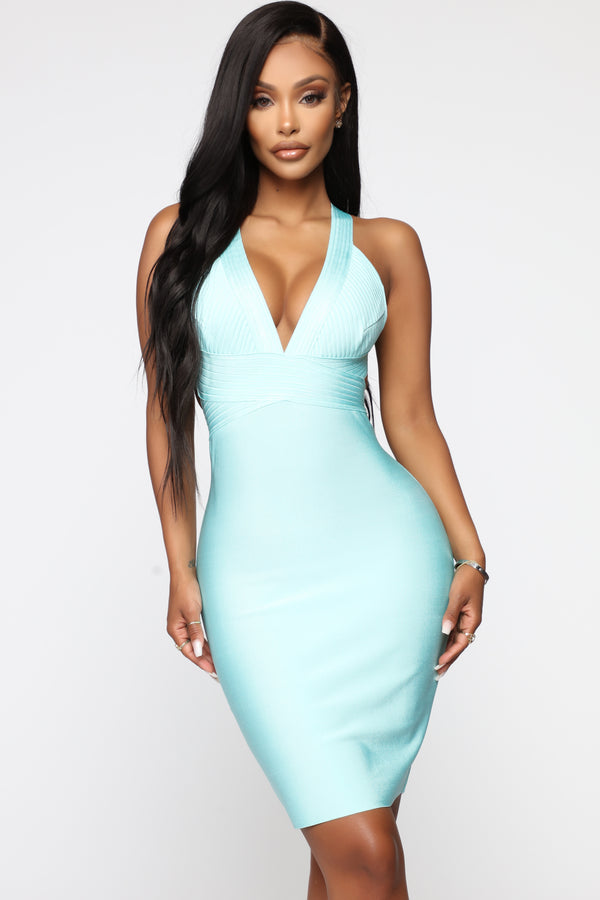 52e1bfb430b VIP List Bandage Dress - Mint
