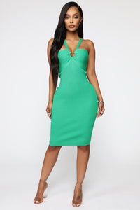 Free For The Night Midi Dress - Kelly Green