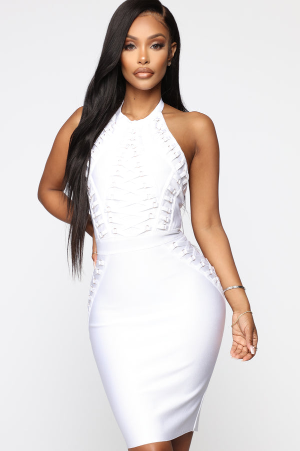e677cb6f8280c Peggy Bandage Dress - White Gold