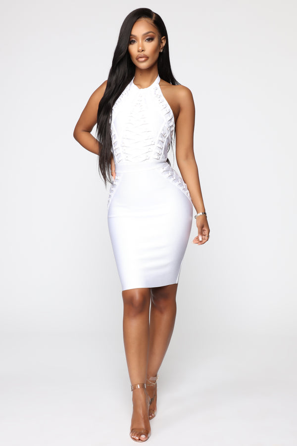 e8efc165e9c Peggy Bandage Dress - White Gold