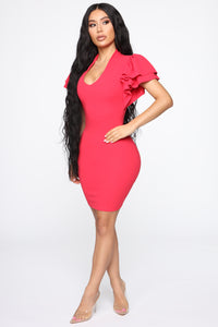 Keeping Secrets Mini Dress - Fuchsia