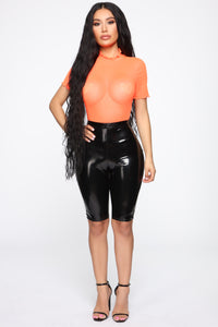 On My Time Mesh Top - Neon Orange