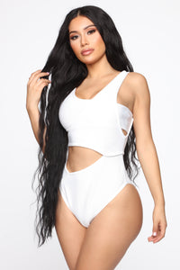 A Day Under The Sun One Piece Sunsuit - White