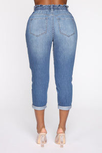 Brielle High Rise Jeans - Medium Blue Wash