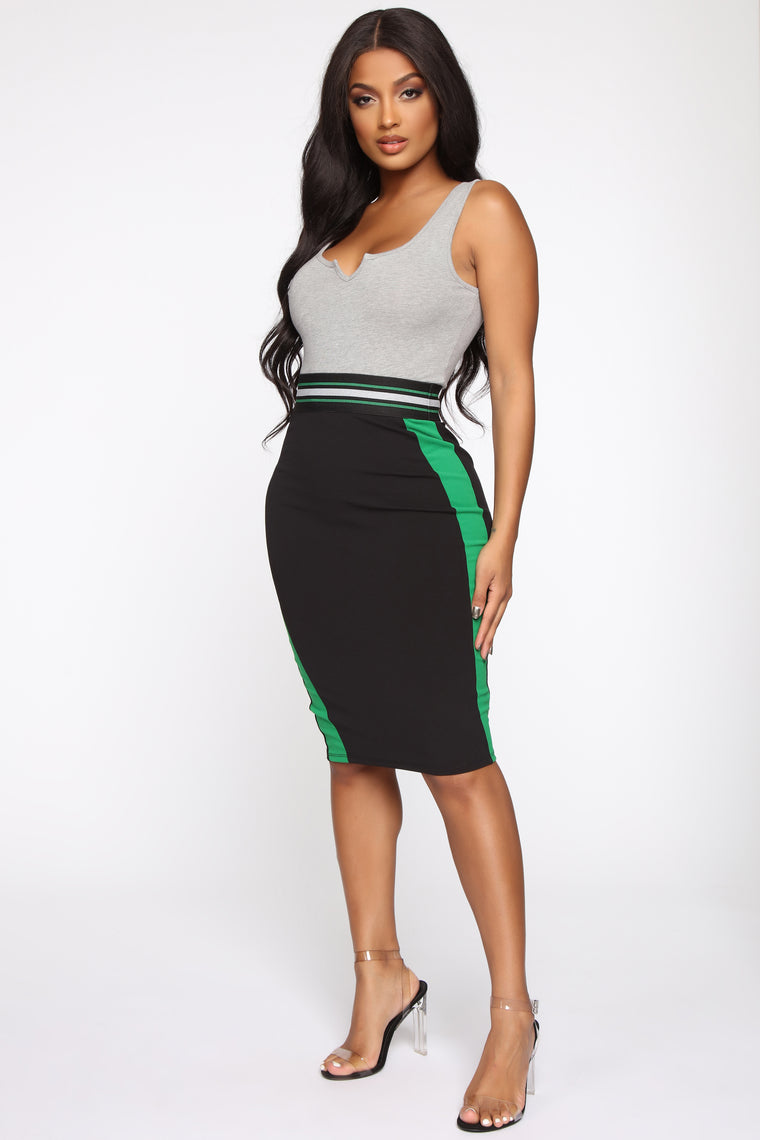 The Best Of Me Midi Skirt - Green