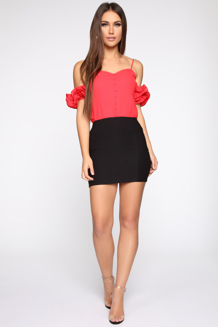 Wine Down Blouse - Coral