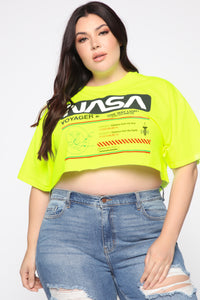 Voyager 2 Crop Top - Neon Green