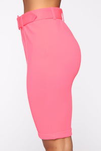 Walk In The Park Biker Trouser - Neon Pink