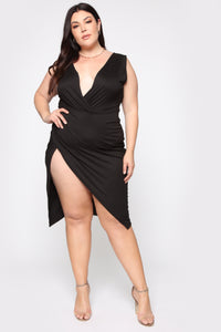 Real Lady Like Midi Dress - Black