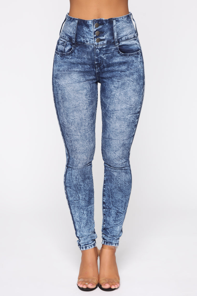 Not Your Girl Skinny Jeans - Acid Wash