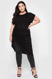 Dancing Shadows Tunic Top - Black Angle 2
