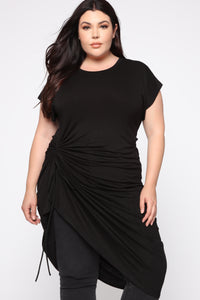 Dancing Shadows Tunic Top - Black Angle 1