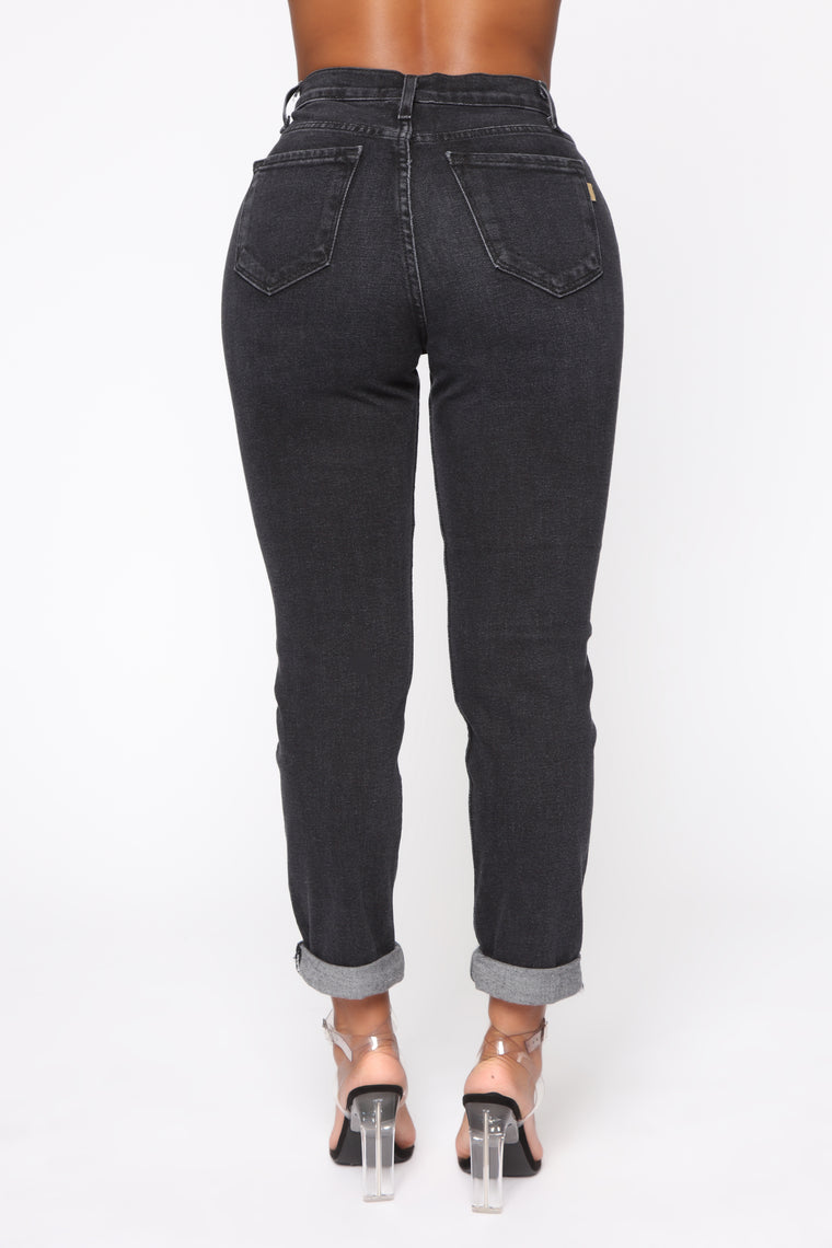 I Got It From Your Mama Jeans - Black Wash