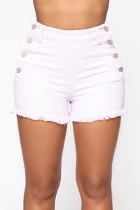 Hayley High Rise Shorts - Purple Angle 2