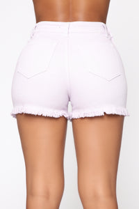 Hayley High Rise Shorts - Purple Angle 6