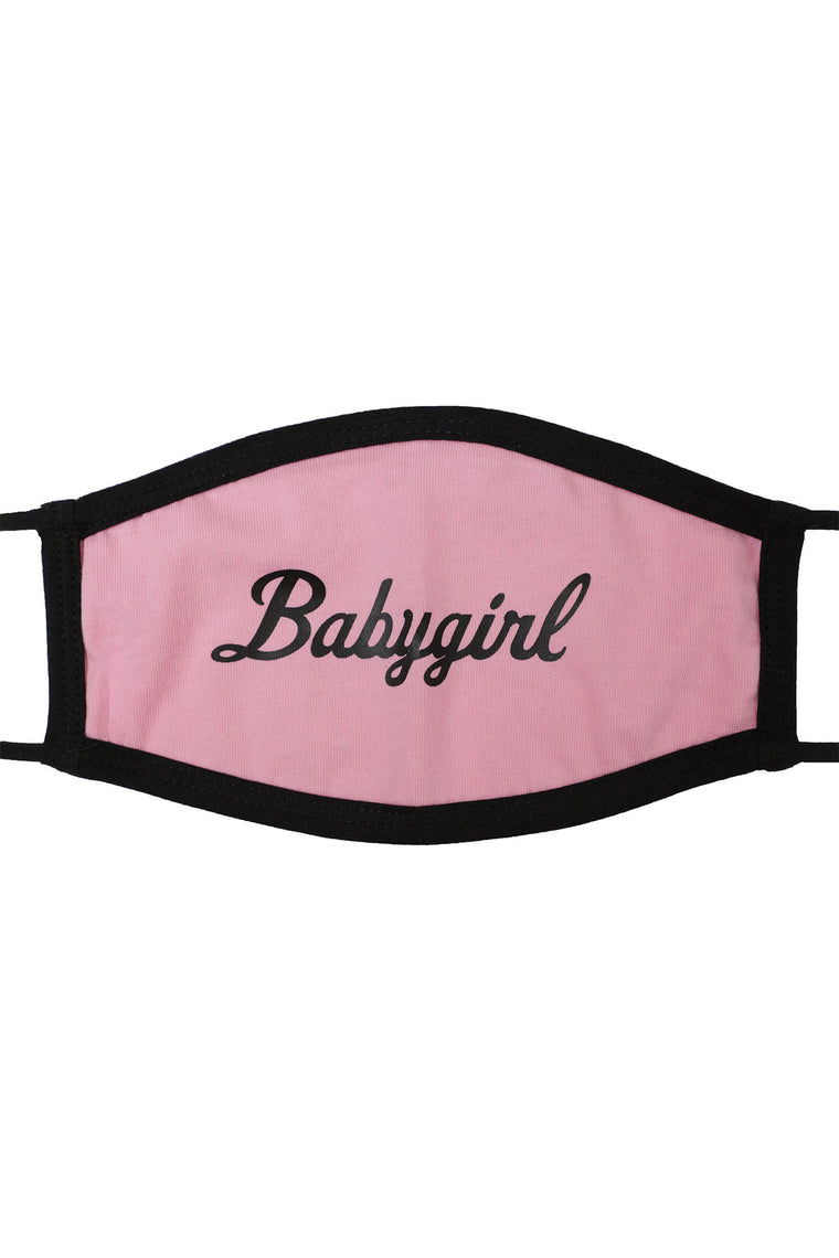 Babygirl Face Mask - Pink/combo