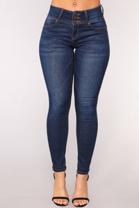 Glow With The Flow Booty Shaping Jeans - Dark Denim