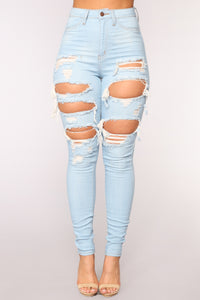Live Let Live Skinny Jeans - Light Blue Wash Angle 1