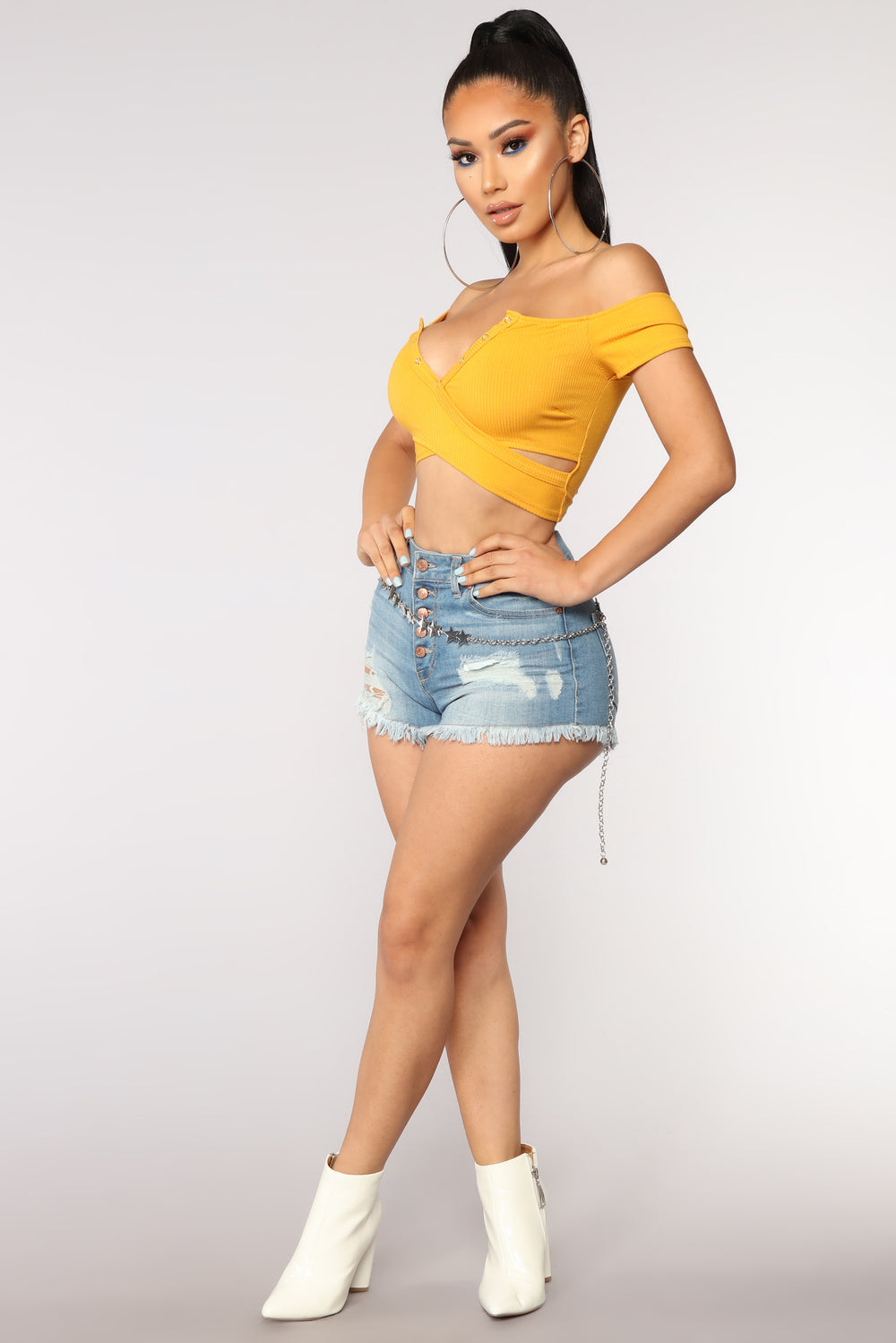 Take It or Leave It Crop Top - Mustard