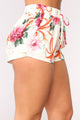 Flower Baby Shorts - White/Multi
