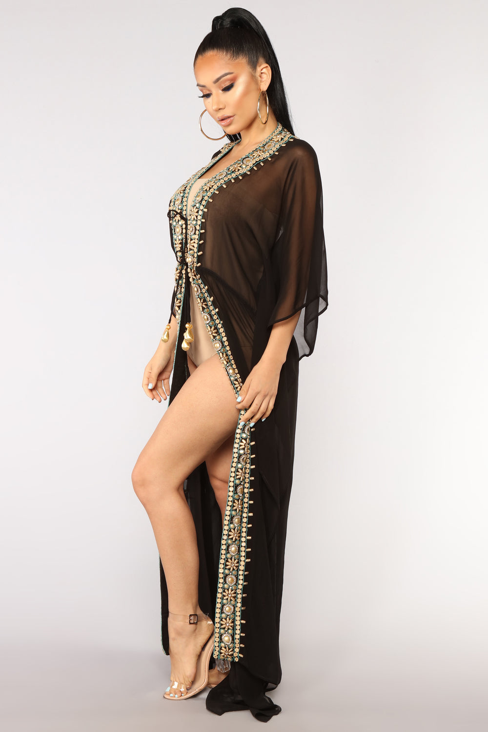 Ocean Air Cover Up - Black