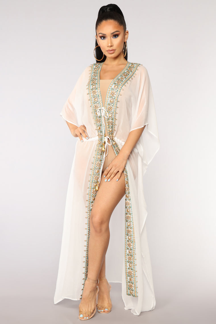 Ocean Air Cover Up - White