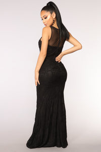 Haughty Lace Dress - Black