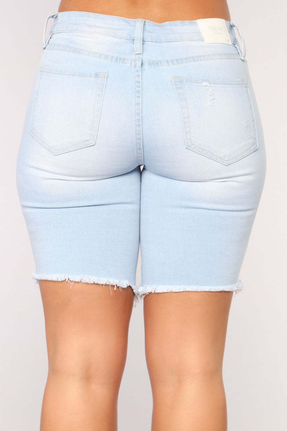 Over Here Waitin' Denim Bermuda - Light Blue Wash