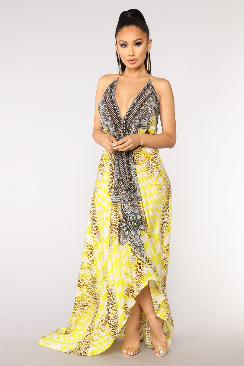 54e724b2963 Somewhere Tropical Cover Up - Yellow/Multi