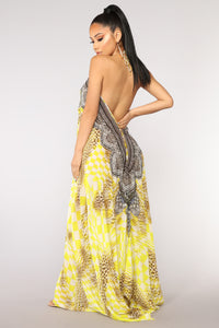 Somewhere Tropical Cover Up - Yellow/Multi