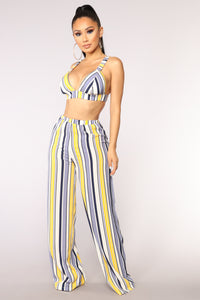 High Line Stripe Set - Blue/Yellow
