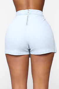 Walker And The Talker Skort - Light Blue Wash