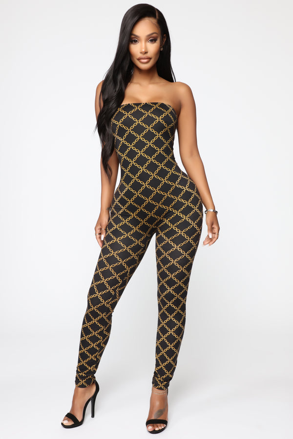 Chain Of Command Tube Jumpsuit , Black/Combo