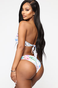Switch It Up Reversible Print Bikini - White/Multi
