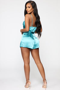 Higher Expectations Romper - Electric Blue