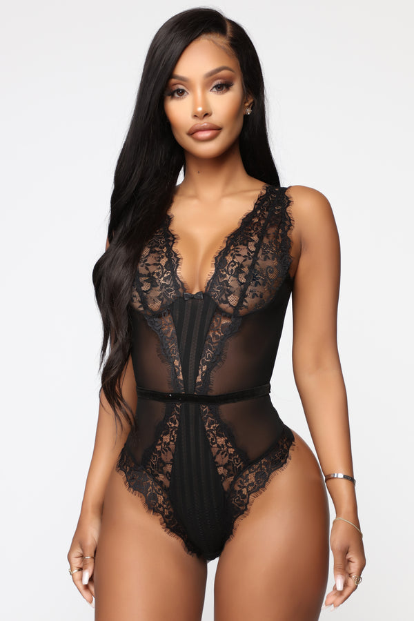 f7c98716d Keeping You A Secret Lace Teddy - Black