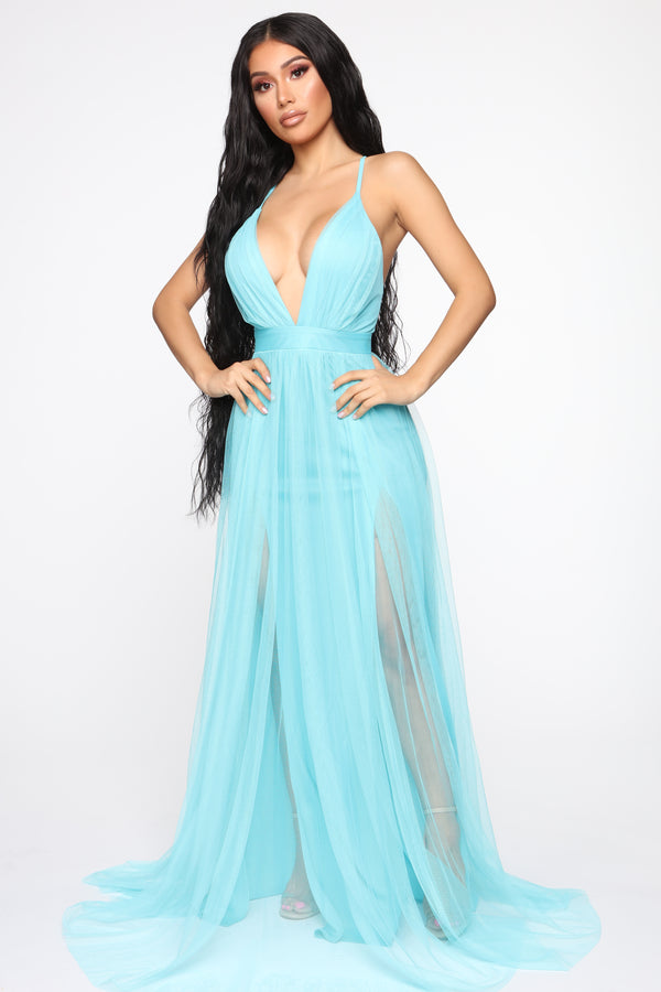 95e1f8857a On The Runway Maxi Dress - Light Blue