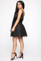 Life's A Movie Flare Mini Dress - Black
