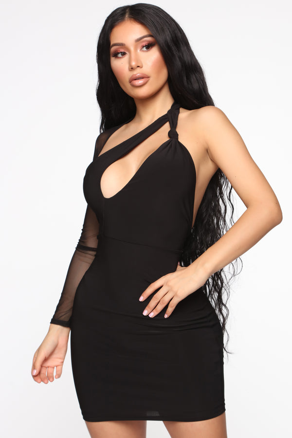05afe09b64 Love My Good Side Cut Out Mini Dress - Black
