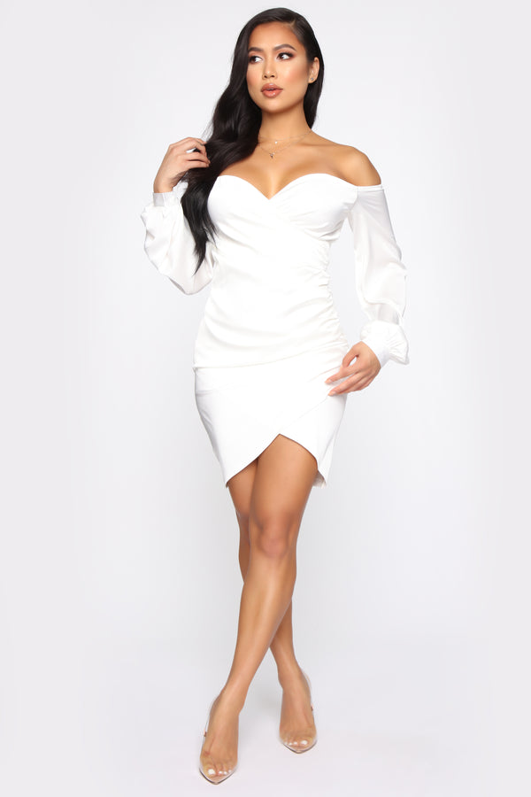 248cf70edc0 Different From The Past Off Shoulder Mini Dress - Off White