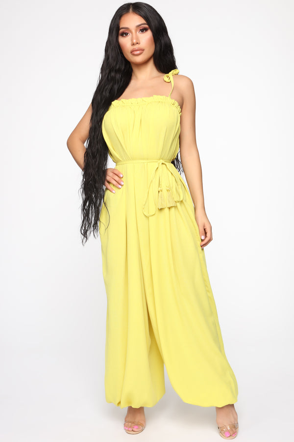 fd29cfe1ee2 Mellow Out Harem Jumpsuit - Yellow