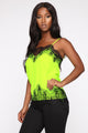 Hard To Forget Lace Cami - Neon Green