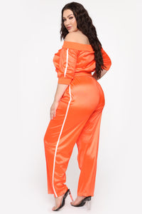 In The Name Of Love Pant Set - Orange Angle 3