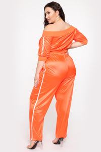 In The Name Of Love Pant Set - Orange Angle 5
