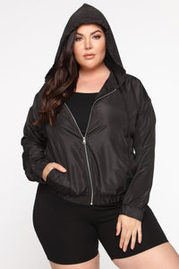Stay In Your Lane Jacket - Black