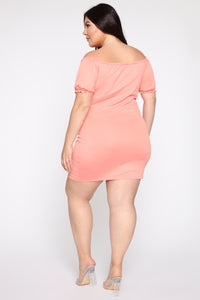 Ain't Nothin' Sweet About Me Mini Dress - Peach
