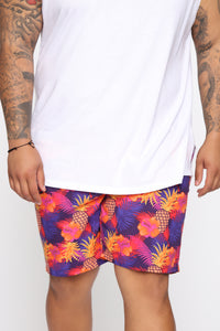 Surfs Up Volley Trunk - Purple/combo Angle 7