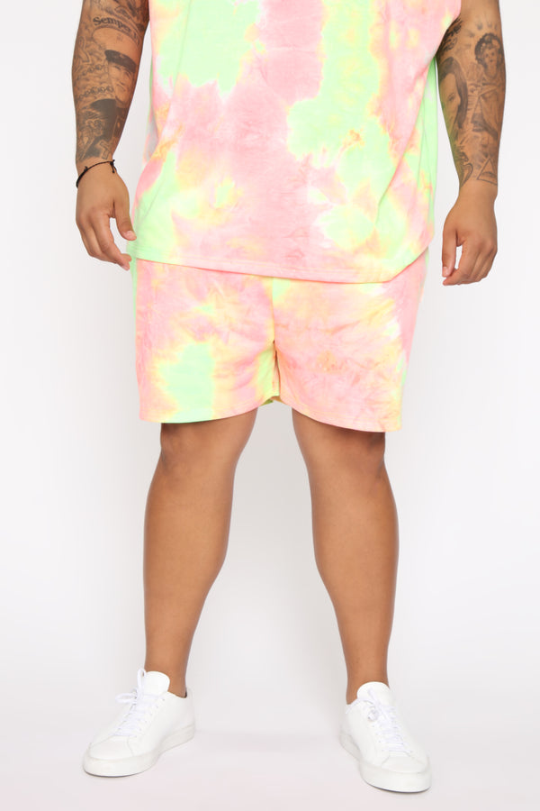 1f16dd1ffa Mixed Feelings Tie Dye Short - Pink/combo
