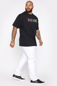 Wild Night Short Sleeve Tee - Black/Combo