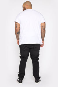 Arthur Striped Skinny Jean - Black Angle 10